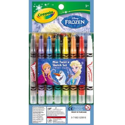 美國crayola 冰雪奇緣迷你旋轉蠟筆著色套裝(4Y+)