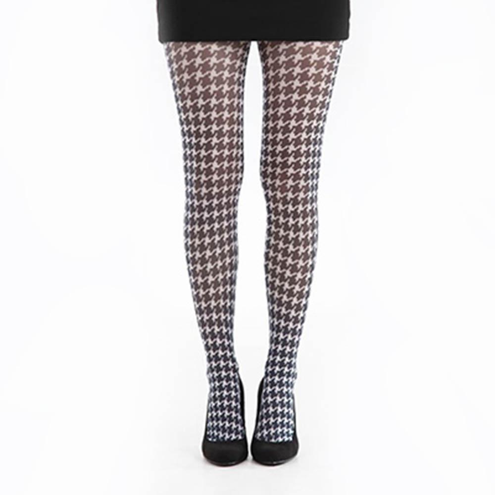 【摩達客】英國進口義大利製【Pamela Mann】千鳥格印紋彈性褲襪