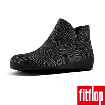 FitFlop SUPERMOD LEATHER BOOT II-亮黑色