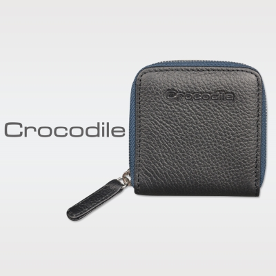 Crocodile 荔紋系列 Easy 輕巧方形拉鍊零錢包 0103-08001