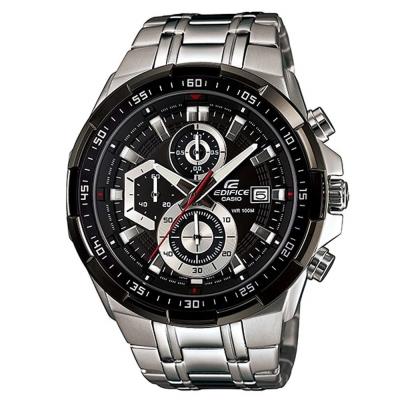 EDIFICE流線三眼設計魅力極速賽車計時錶(EFR-539D-1A)-黑面/49.5mm