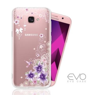EVO SAMSUNG Galaxy A7(2017) 奧地利水鑽彩繪防摔殼 -...