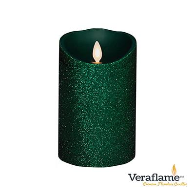 Veraflame 擬真火焰搖擺蠟燭-森林綠蔥