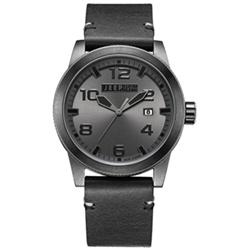 Jeep Spirit 簡約休閒系列時尚手錶-灰面/黑色帶-46mm