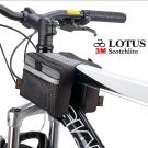 LOTUS 自行車專用拉鍊式上管馬鞍袋 (折疊車、公路車、登山車通用)