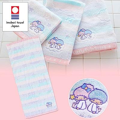 Sanrio 雙星仙子日本製今治純棉毛巾(夜空)