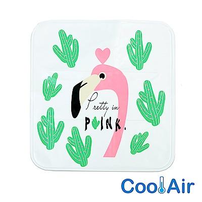 CoolAir 涼感降溫冰涼墊/坐墊 (粉紅鶴)