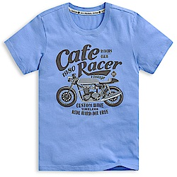 101原創 Ride hard短袖T恤上衣-蔚藍
