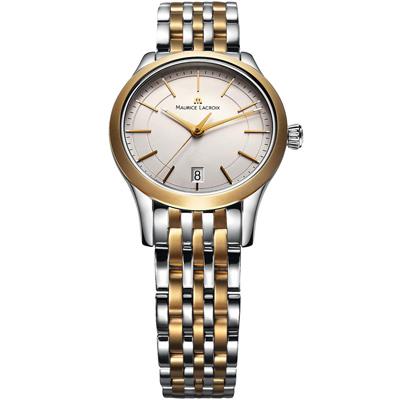 Maurice Lacroix 典雅系列 永恆記憶都會腕錶-銀x金/33mm