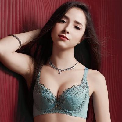 【摩奇X】美麗系列挺魔力Bra D-F罩杯內衣(湖水綠)-機能型內衣