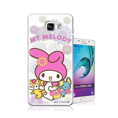 三麗鷗正版 美樂蒂 Samsung Galaxy A5 (2016)透明軟式保護...