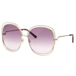 CHLOE金屬大框 太陽眼鏡 金色 CE126S-803