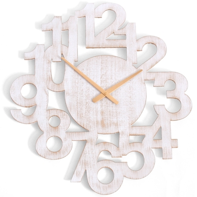 a.cerco- 復古立體大數字掛鐘-刷白
