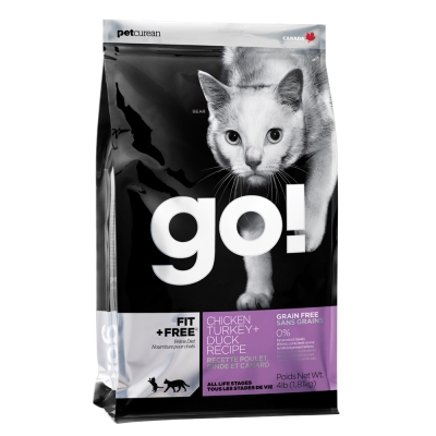 Go! 80%四種肉無穀貓糧《4磅》