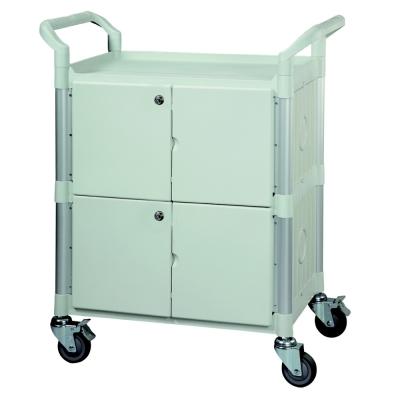 【COLOR】多功能3層圍邊工具/餐推車(附門鎖)