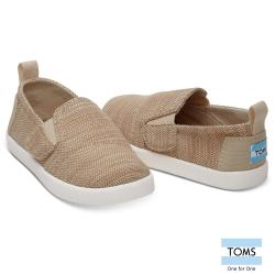 TOMS 亞麻帆布懶人鞋-幼童款