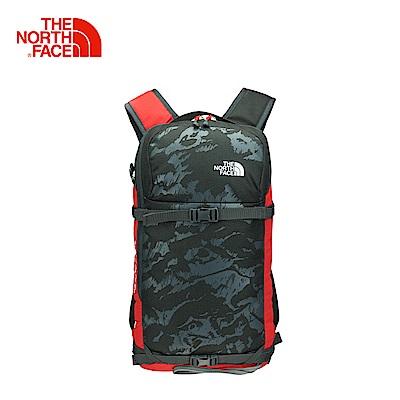 The North Face北面男女款深灰色舒適防護戶外雙肩後背包