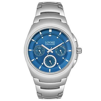 LOVME 潮流魅力時尚手錶-藍/43mm