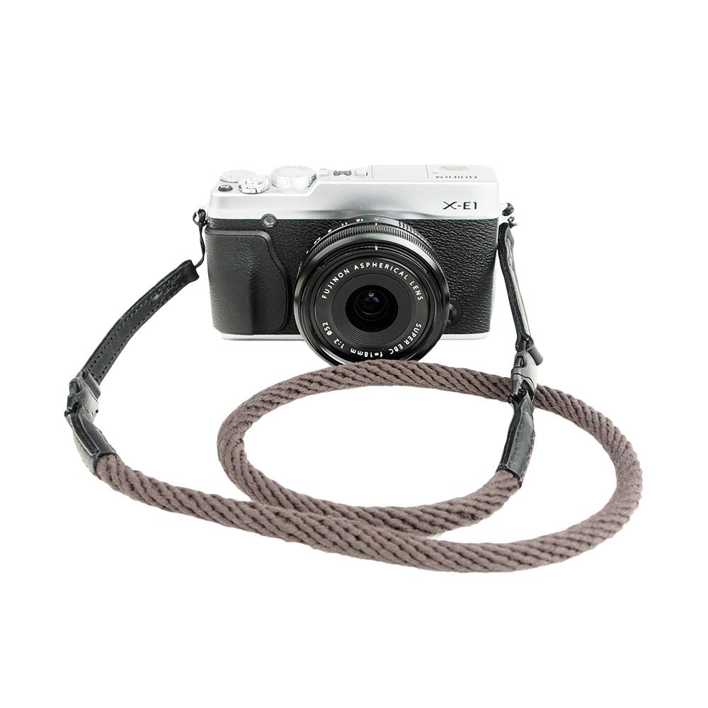 Cam in 棉織細繩款相機背帶(共五色)-咖啡