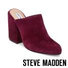 STEVE MADDEN-STELA-BURGUNDY 高跟穆勒鞋-酒紅