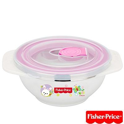 費雪Fisher-Price-雙耳不袗兒童餐具附湯匙-250ml(藍/粉/黃)