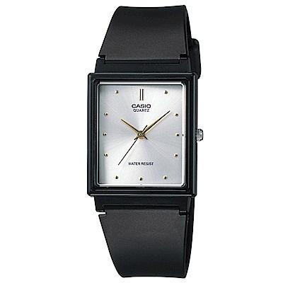 CASIO 經典復古款方形錶(MQ-38-7A)-銀面/25mm