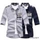小猴子的賣場 韓版格紋拼接質感七分袖襯衫-2