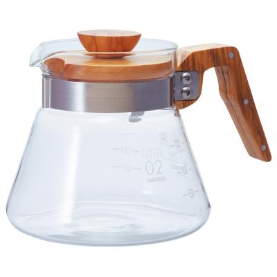 【HARIO】V60橄欖木60好握咖啡壺600ml VCWN-60-OV