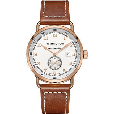 Hamilton KHAKI NAVY卡其海軍小秒針機械腕錶H77745553