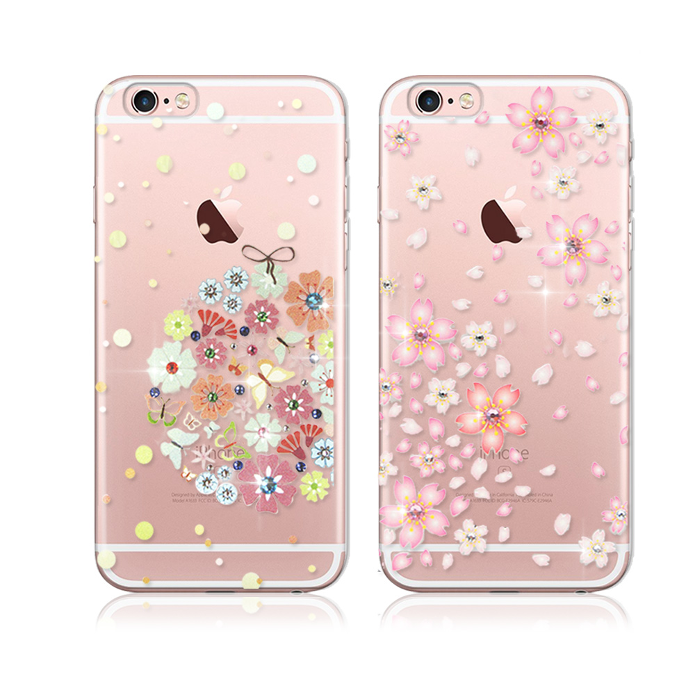 PGS施華洛世奇彩鑽iPHONE 6/6S Plus 5.5吋花語水晶軟式保護殼