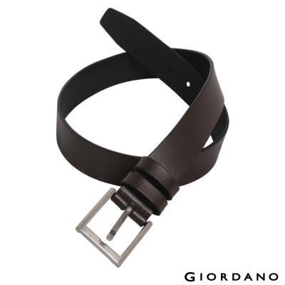 GIORDANO-經典款超值皮帶-84-深啡