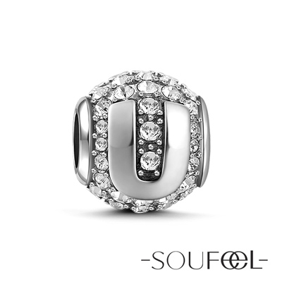 SOUFEEL索菲爾 925純銀珠飾 字母 U 串珠