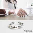 JINCHEN 純銀交叉開口戒指