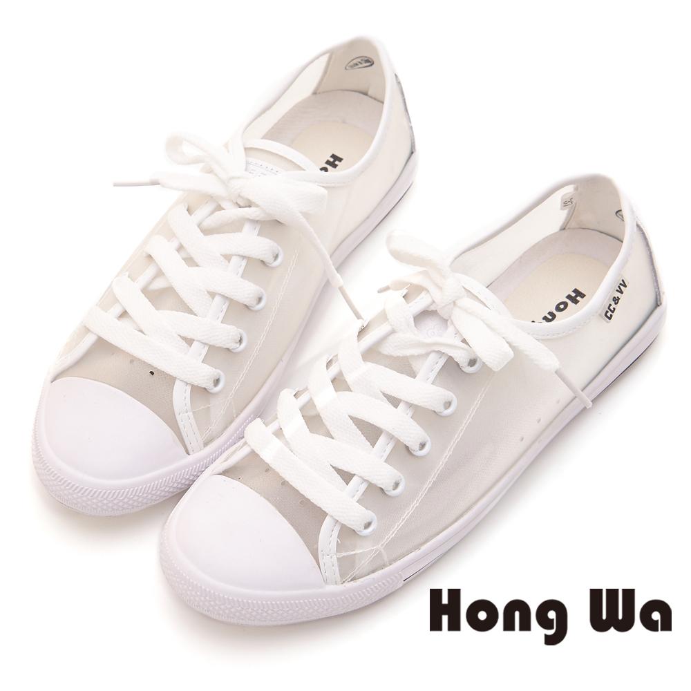 Hong Wa 潮流造型設計休閒鞋 - 白