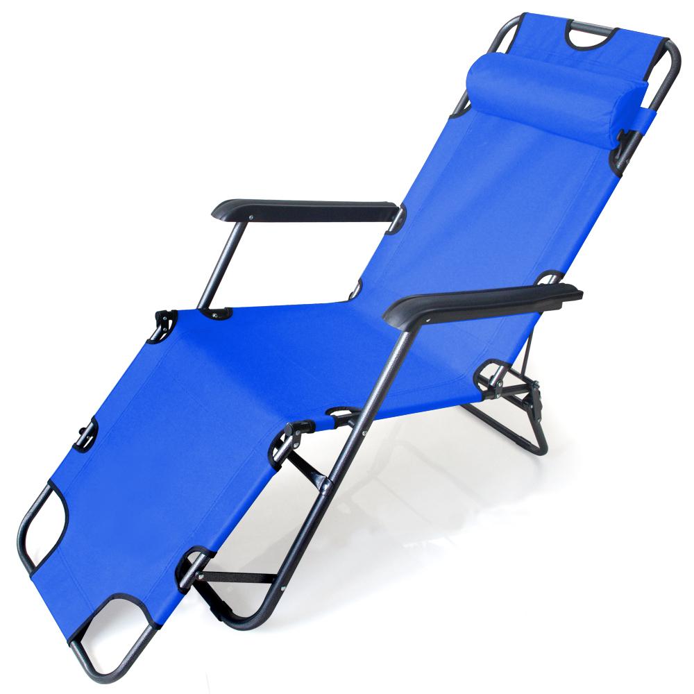 600D牛津布坐躺兩摺疊休閒躺椅