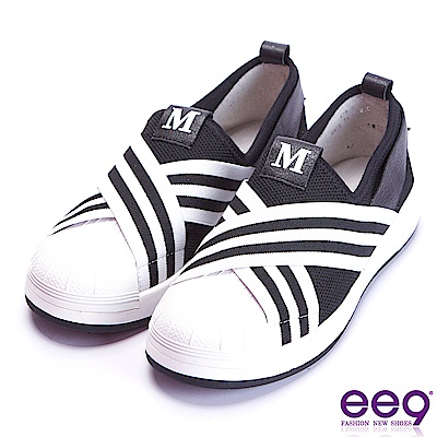 ee9 經典手工交叉纏繞豐超輕平底休閒便鞋 黑色