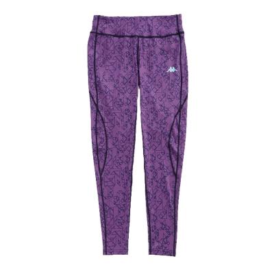 KAPPA義大利 舒適尚女針織九分慢跑緊身褲(合身尺寸)1件 暗紫