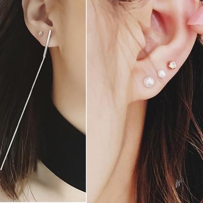 梨花HaNA 韓國小店長自留絕對入手簡潔一字耳線耳環四件套