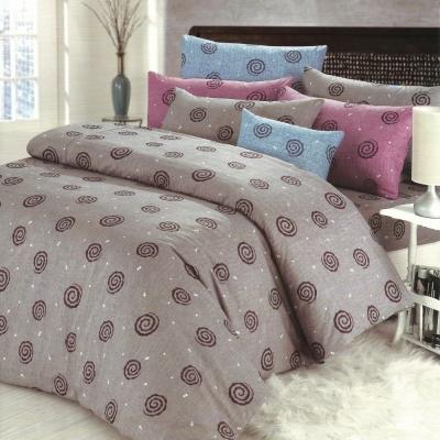艾莉絲-貝倫 深情漩渦 高級混紡棉 雙人加大鋪棉涼被床包四件組