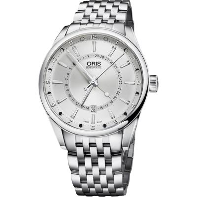 oris豪利時 Artix 指針式月亮週期機械錶-銀/42mm