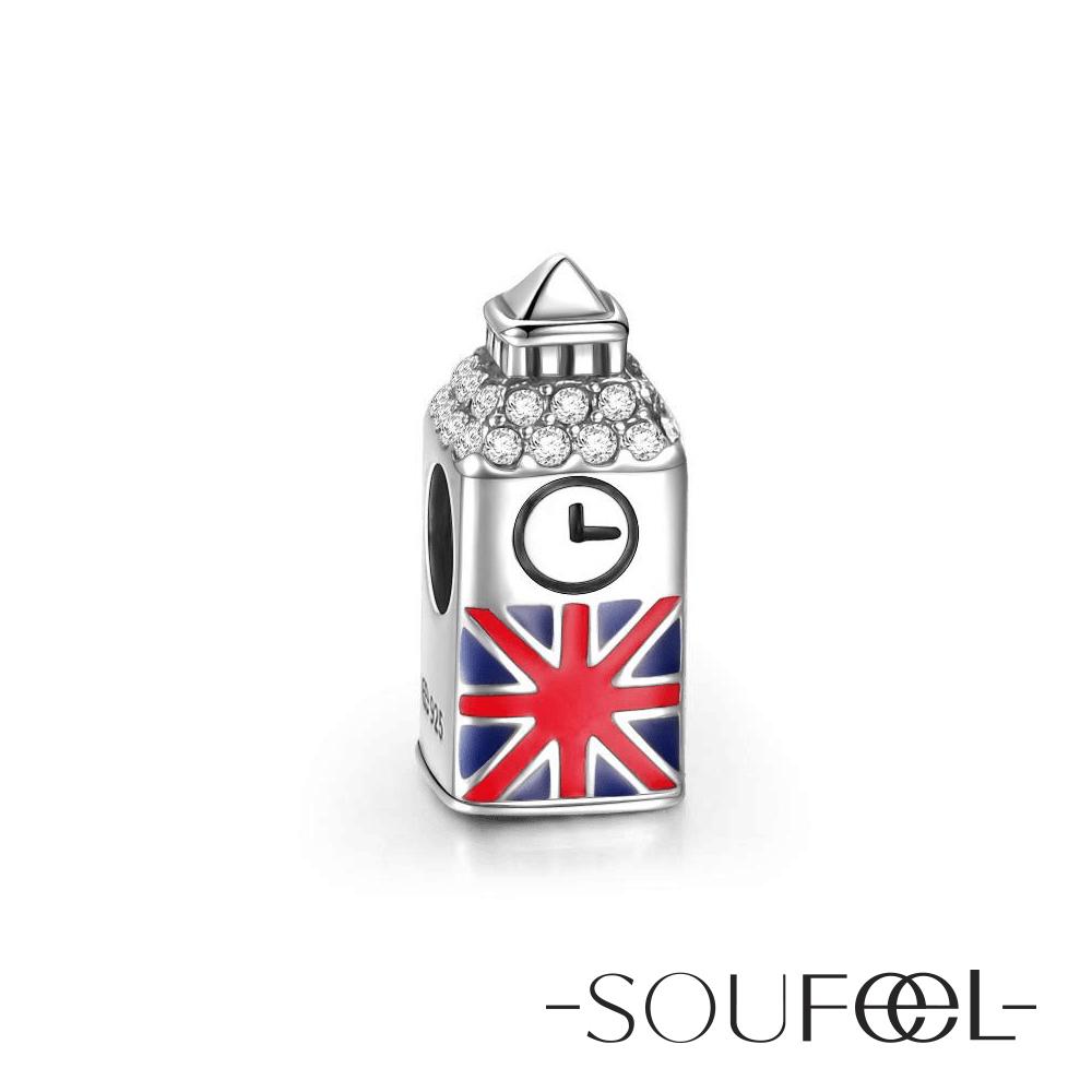 SOUFEEL索菲爾 925純銀珠飾 英國大笨鐘 串珠