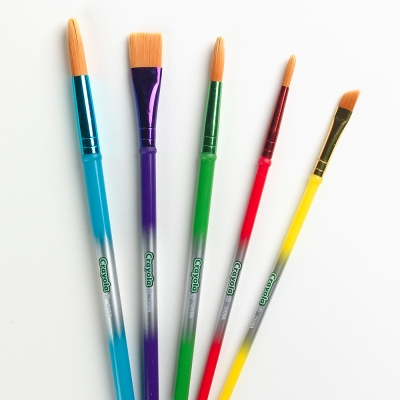 美國 Crayola繪兒樂 刷具5支(3Y+)