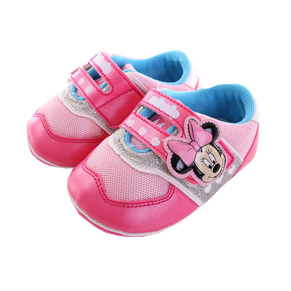 米妮-寶寶鞋-桃  sh9710