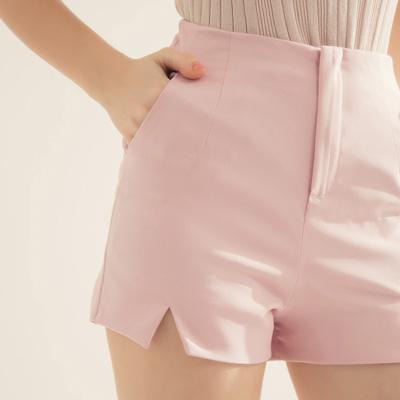 AIR SPACE 雪紡切口西裝短褲(粉紅)