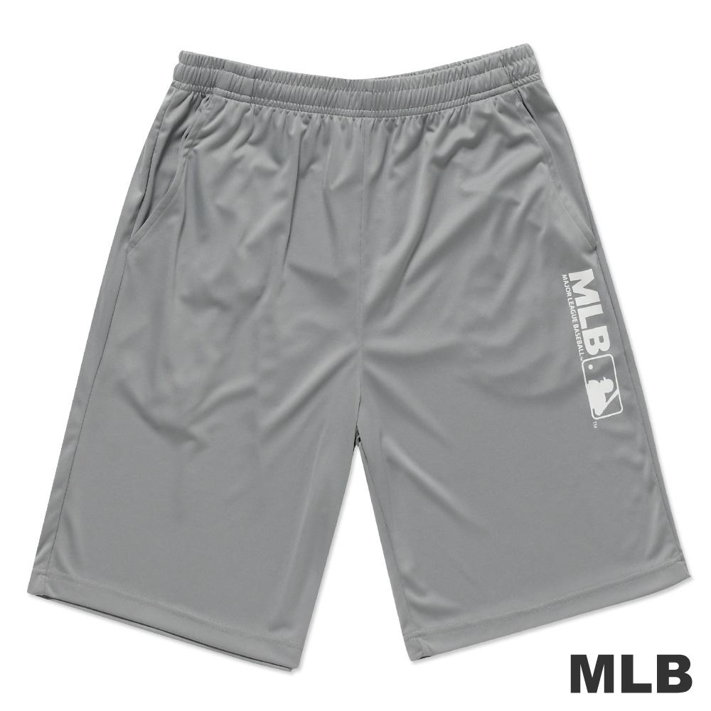 MLB-美國職棒大聯盟LOGO印花快排運動短褲-灰(男)