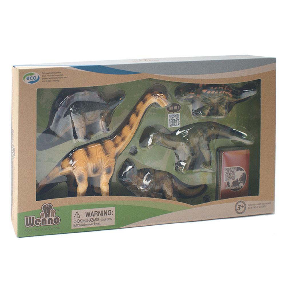 Wenno動物模型恐龍系列草食性恐龍5入WHD06001