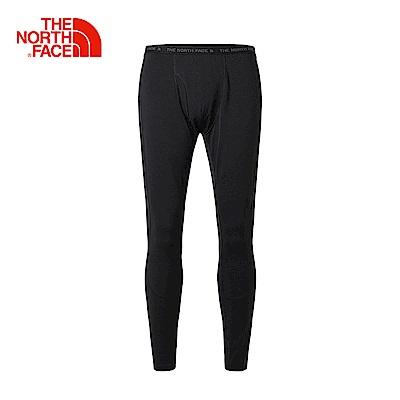The North Face北面男款黑色吸濕排汗緊身長褲