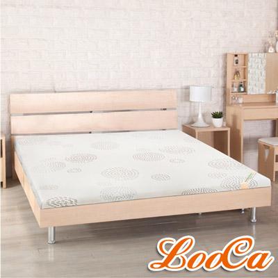LooCa 高規HT雲緞舒柔5cm乳膠床墊-加大6尺