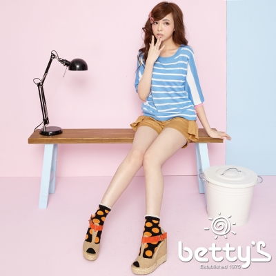 betty-s貝蒂思-側身打褶口袋蝴蝶結短褲