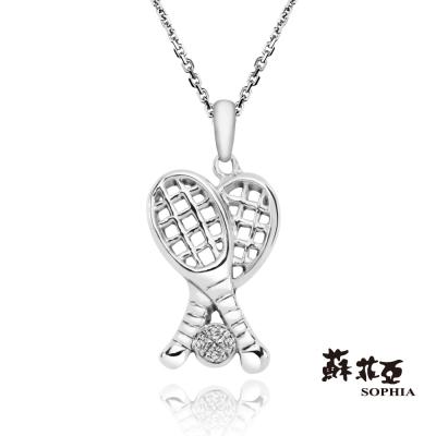 蘇菲亞SOPHIA-鑽石項鍊-網球公主球拍鑽鍊-共